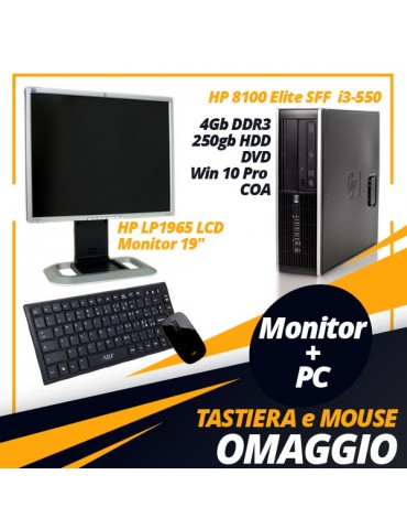 PC HP 8100 Elite SFF, i3-550 + HP LP1965 LCD Monitor 19""
