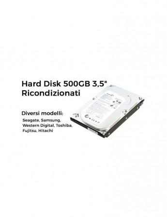 """Hard Disk 500GB 3,5"""" SATA Ricondizionati"""