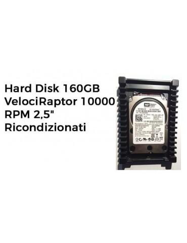 """Hard Disk 160GB VelociRaptor 10000 RPM 2,5"""" SENZA adattatore 3,5"""" Ricondizionati"""