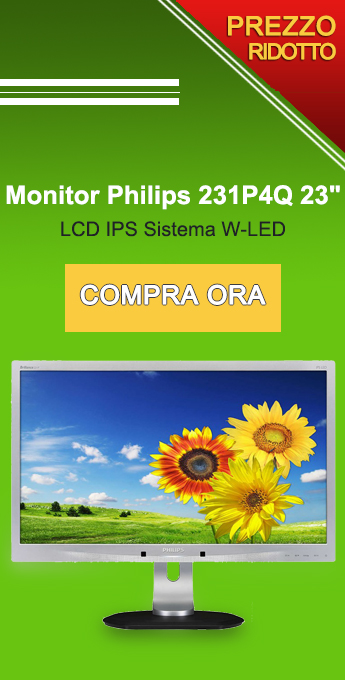 "Monitor Philips 231P4Q 23"""