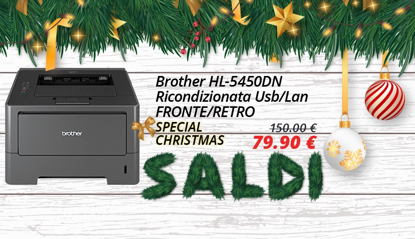 Brother HL-5450DN Usb/Lan Fronte/Retro