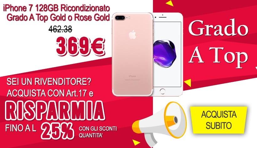 iPhone 7 128GB Ricondizionato Grado A Top Gold o Rose Gold (Oro - Oro Rosa)