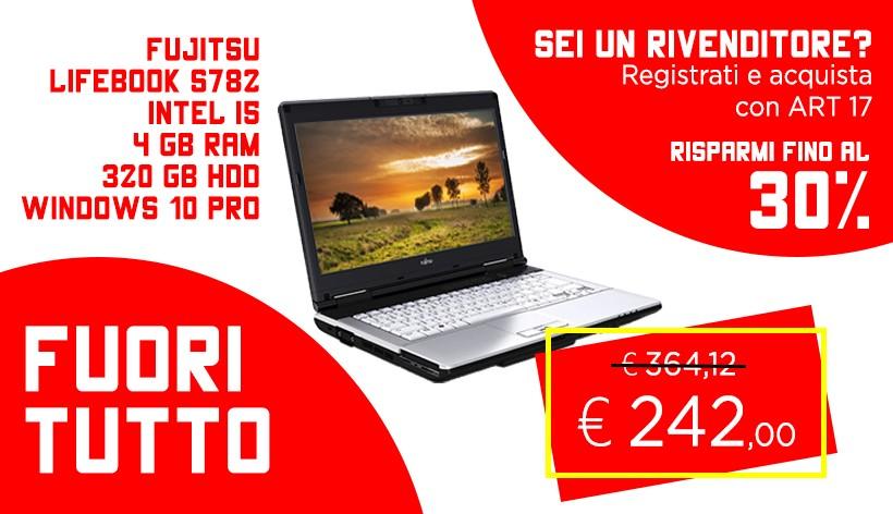"FUJITSU LIFEBOOK S782 LED 14"", INTEL I5-3210M, 4 GB DDR3 RAM, 320 GB HDD, WINDOWS 7 PRO COA/WINDOWS 10 PRO"