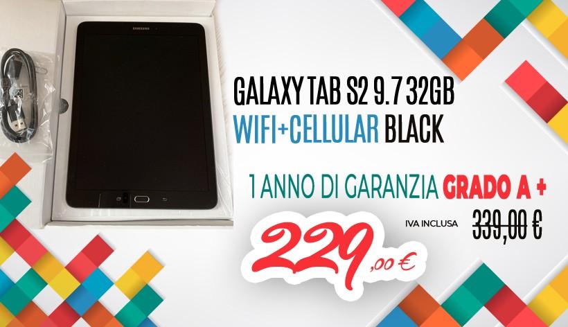 Galaxy Tab S2 9.7 32GB WiFi+Cellular Black