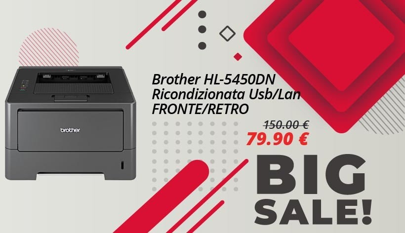 Brother HL-5450DN Usb/Lan Fronte/Retro