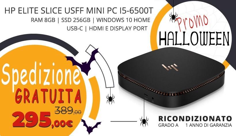 HP Elite Slice USFF Mini PC i5-6500T   Ram 8Gb   SSD 256Gb   Windows 10 Home   USB-C   Hdmi e Display port- GRADO A