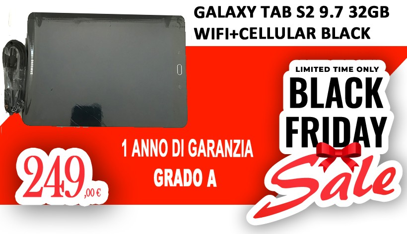 Galaxy Tab S2 9.7 32GB WiFi+Cellular Black